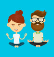 woman girl and hipster young man guy vector image