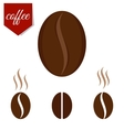 set of coffee beans vector image vector image