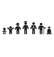All ages flat icon vector image