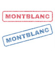 montblanc textile stamps vector image