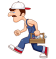 Construction Worker With tools vector image