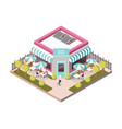 sweet shop outside view isometric vector image