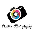 Photographer studio logo template vector image vector image