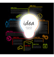 Modern idea Infographic template made from lines vector image vector image