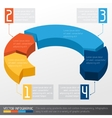 Template business infographic with arrow 3d design vector image vector image