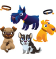 Dog set vector image vector image