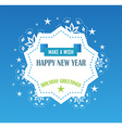 christmas and happy new year background vector image