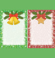 christmas backgrounds with star and bells vector image