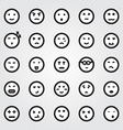 Emotion Faces Icons Collection vector image