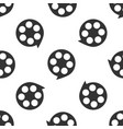 film reel icon seamless pattern on white vector image