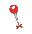 map pin with a cross marker shape location vector image