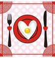 Valentines day menu vector image