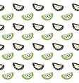 watermelon slice seamless pattern vector image