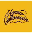 Halloween lettering greeting card EPS 10 vector image