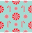 Seamless Pattern Decoration Christmas Candy Cane vector image