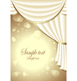 Background with light drapes vector image vector image