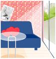 Empty cafe Interior vector image vector image