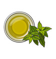 bowl of natural oil massage decorated with fresh vector image
