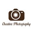 Photographer studio logo template vector image vector image