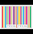 multi colored barcode vector image