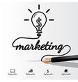 Markrting concept infographic vector image