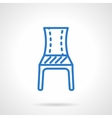 Blue chair line icon vector image