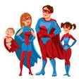 family of superheroes vector image