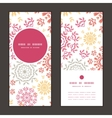 folk floral circles abstract vertical round frame vector image