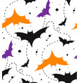 hand drawn seamless halloween pattern with vector image