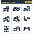 Icons set premium quality of car repair system vector image