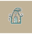 Ornate house vector image