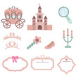 princess design elements princess design elements vector image