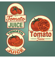 Tomato juice labels set vector image