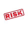 Risk Rubber Stamp vector image