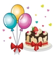 happy birthday invitation with balloons air and vector image