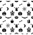 seamless pattern with halloween icons vector image vector image