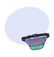 colorful retro style colorful waist bag fashion vector image
