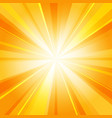 shiny sun radiator background vector image vector image