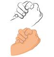 greeting shake vector image vector image