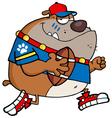 bulldog football player vector image