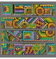 Abstract ethnic pattern card set Template vector image
