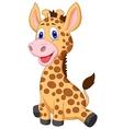 Cute baby giraffe cartoon vector image