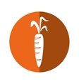 fresh carrot vegetable healthy icon orange circle vector image