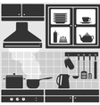 Kitchen in apartment vector image