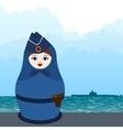 Matryoshka submarine officer vector image