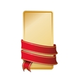ribbon label red banner icon graphic vector image