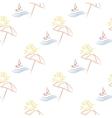 seamless with beach umbrella vector image