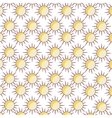 summer sun pattern isolated icon vector image