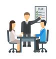 Training staff briefing presentation vector image