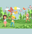 cartoon character children vector image
